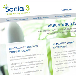 Socia 3 La paie responsable - Webdesign