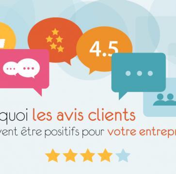 Les avis clients positifs pour votre entreprise